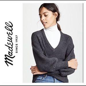 🌵 Madewell 2X Dashward V Neck Sweater 🌵